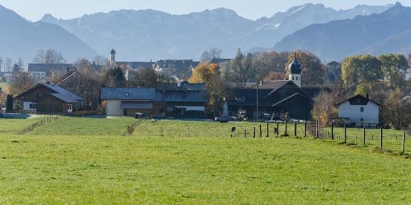 Wanderung - Hungerbach-Rundweg - Spatzenhausen mit Alpen