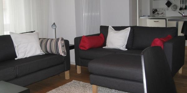 Ferienwohnung Hofen: Wohnzimmer