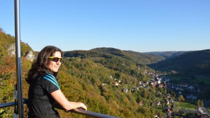 Blick vom Brünhildenstein auf Muggendorf