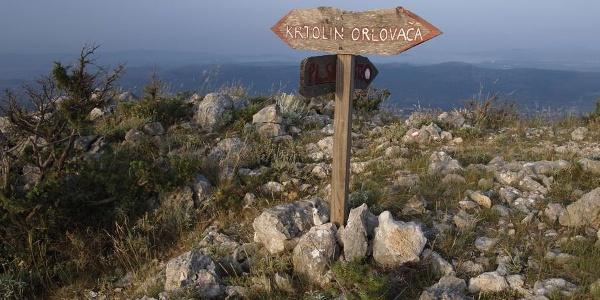Putokaz prema Krtolinu i Orlovači
