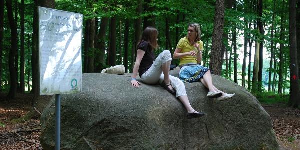 Ein riesiger Granitblock aus Skandinavien