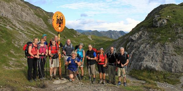 Grenzübergang nach Österreich am Mädelejoch