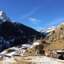 Balme, view to Matterhorn