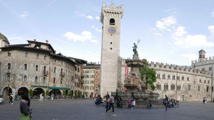 Der Marktplatz von Trient (Trento)