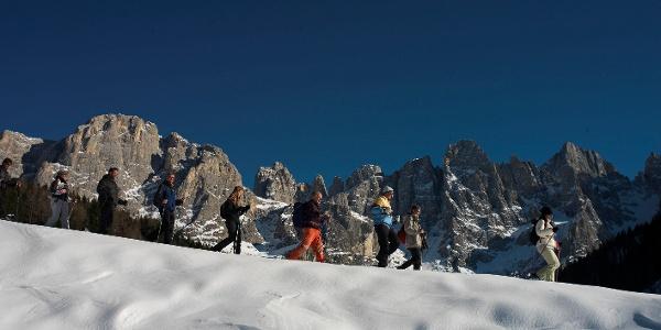 Winter walk in Val Venegia