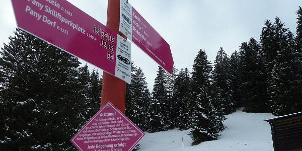 Kurze steilere Stelle vor Ronggaletz - meist problemlos zu bewältigen.