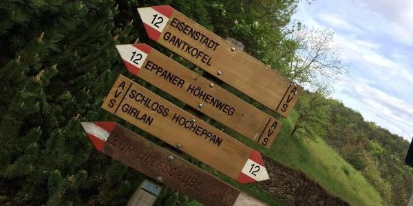 alternative Wanderrouten rund um den Eppaner Höhenweg