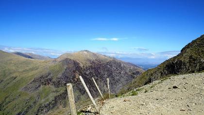 Path to the summit of Mt Snowdon