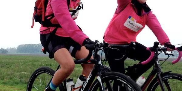 Winning Team Pink Ribbon auf der Schleifenroute