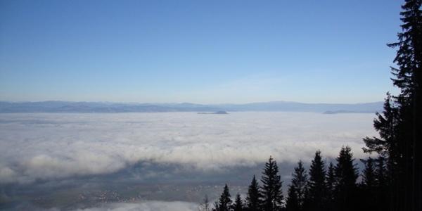 Blick auf Ferlach und Klagenfurt