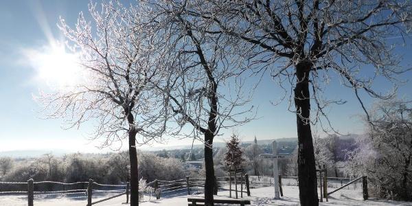 Winterwandern, Blick auf Medebach