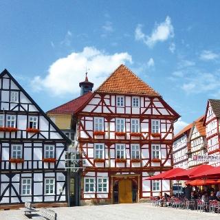 Fachwerkhäuser am Marktplatz Eschwege