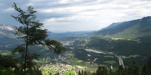 Sicht auf Maglern und Arnoldstein
