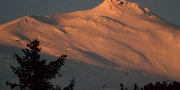 Der direkte Gipfelhang des Großhansl ist nur ganz selten befahrbar