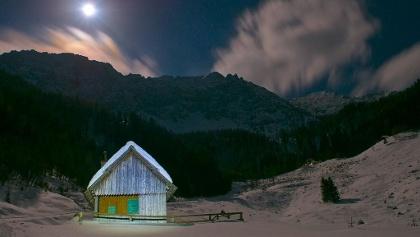 Mondscheinwanderung zum Koschutahaus, Foto Dieter Arbeiter