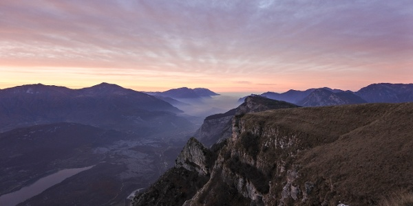 Il lago di Garda dal Monte Casale