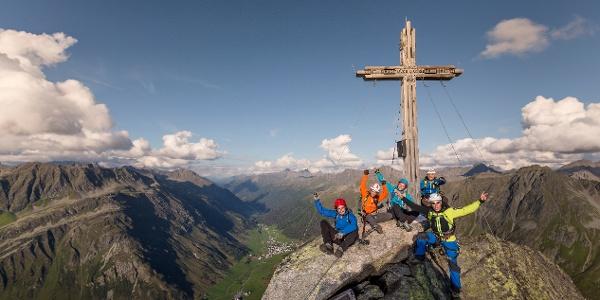 Klettersteig Silvapark Ballunspitze