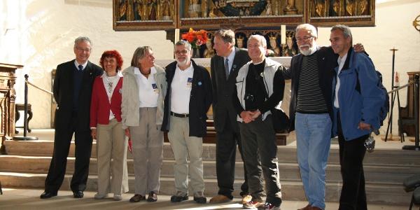 Pilgergruppe in der St. Stephaniekirche Osterwieck