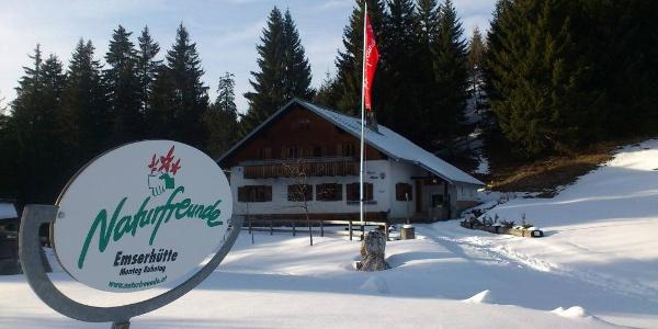 Naturfreunde-Hütte: Emser Hütte Hohenems im Winter