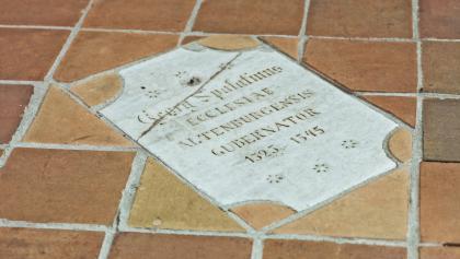Grabplatte Georg Spalatins - St. Bartholomäi - Altenburg