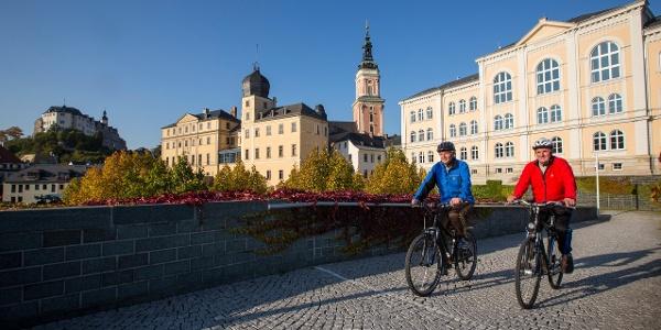 Radfahrer in Greiz