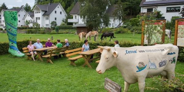 Rastplatz im Ortskern von Lenne