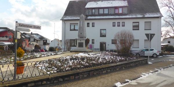 Startpunkt in der Ortsmitte in Oberhausen bei Kirn