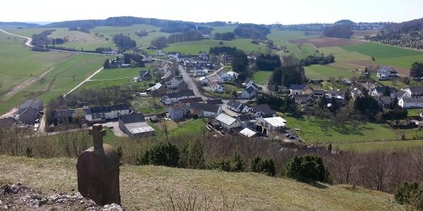 Blick vom Kalvarienberg auf Alendorf