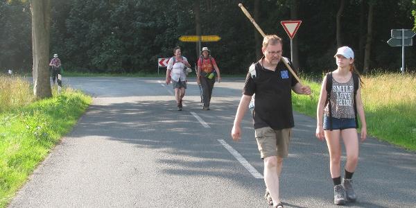 Auf der Landstraße kurz vor Kakerbeck