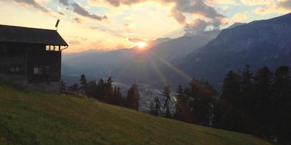 Aussicht von Schönegg bei Sonnenuntergang