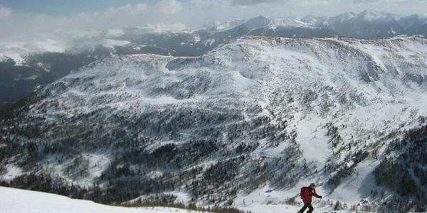 Hirneck und Karlhöhe von Anstieg zur Sternspitze