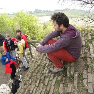 Am Aussichtspunkt, Ruine Dívčí Hrady.