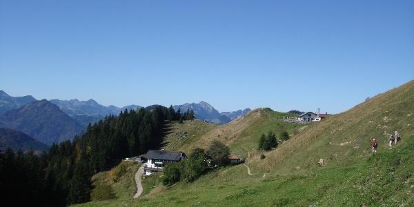 Blick Richtung Spitzsteinhaus und Altkaseralm