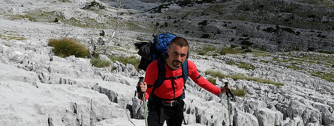 Hiker in Zakantar area