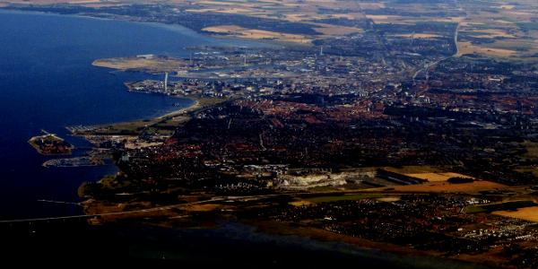 Flygbild över Malmö