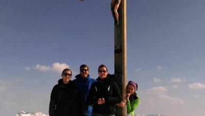 Auf dem Gipfel angekommen