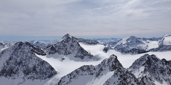 Blick vom Schrandele zur Ruderhofspitze