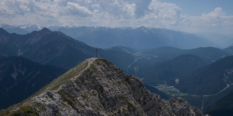 Brunnensteinkopf von der Brunnensteinspitze aus gesehen