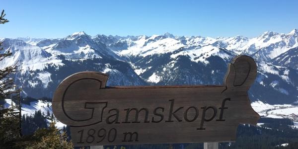 Ausblick auf dem Gamskopf