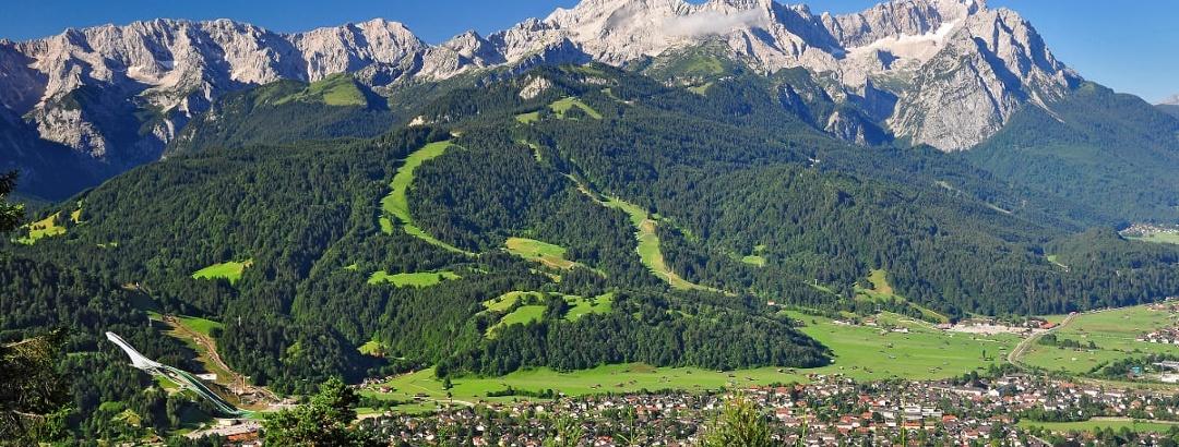 Panoramic view of Garmisch-Partenkirchen