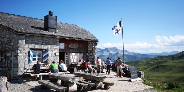 Aussicht Carschinahütte
