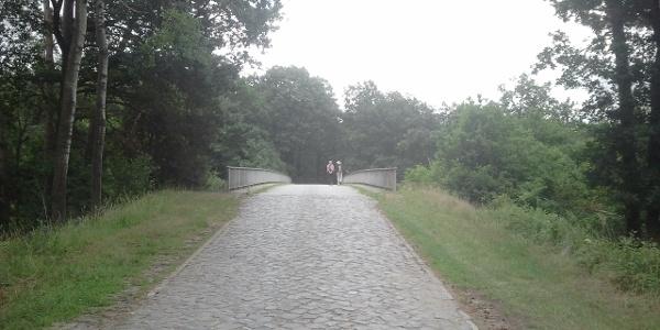 Brückenstraße über die A7 in der Nähe von Abelbeck