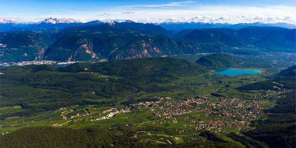 Panoramic view from the peak Penegal