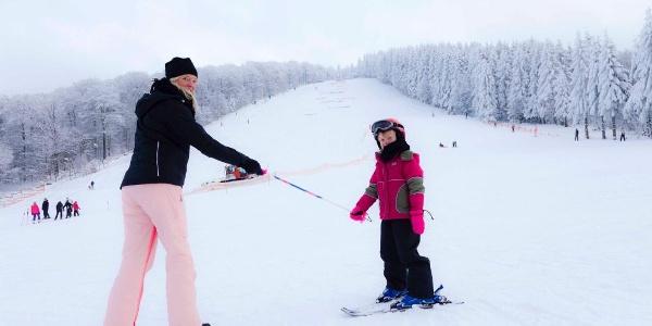 Skispaß am Schloßberg