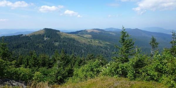 Blick vom Großen Arber nach Norden