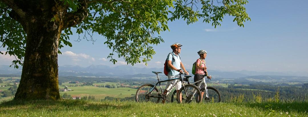 Ausblickreiche Radtour