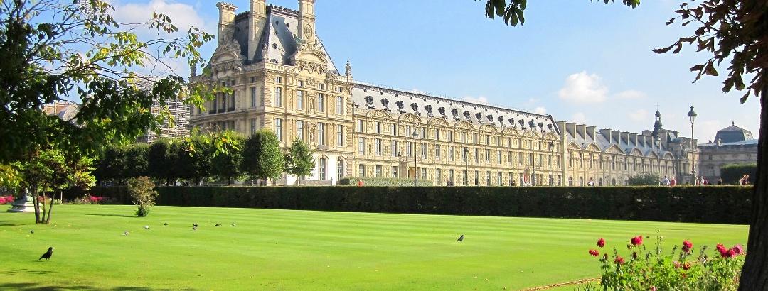 Der Louvre-Palast in Paris