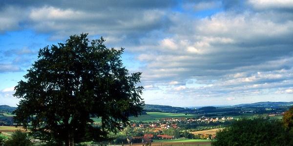 Blick auf die Hügellandschaft bei Großenmarpe