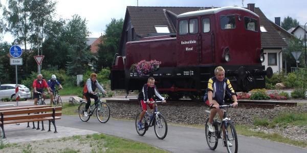 Lokomotive in Reinsfeld