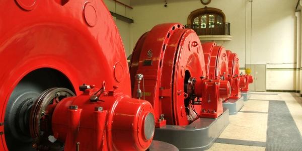 Turbinen im Kraftwerk Andelsbuch